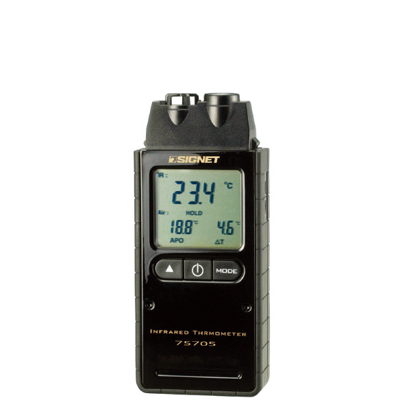 SIGNET シグネット 75705 赤外線放射温度計 全長(mm):135 幅(mm):60 高さ(mm):30