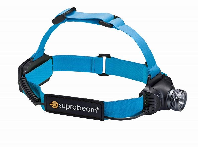 SUPRABEAM スプラビーム 610.5043 V3AIR 充電式 軽量LEDヘッドライト 5~320ルーメン ダークグレー ヘッドランプ 防災