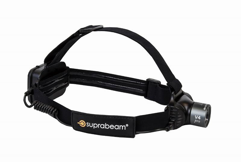 SUPRABEAM スプラビーム 613.5043 V4PRO 充電式 軽量LEDヘッドライト 12~800ルーメン ダークグレー ヘッドランプ 防災