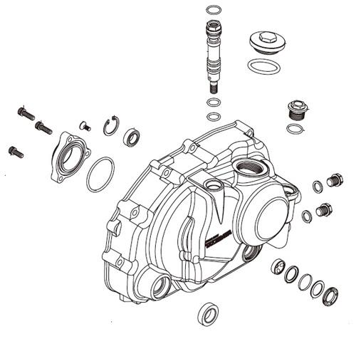 SP武川 タケガワ 00-02-0390 R.クランクケースカバー ASSY. 油圧マニュアルクラッチカバーキット用 アルミダイカスト KSR110/KLX110/DR-Z110 補修部品