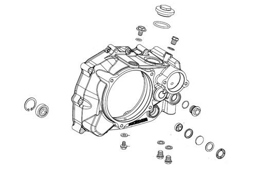 SP武川 タケガワ 00-02-6208 R.クランクケースカバー ASSY. スペシャルクラッチカバーキット用 GROM グロム/MSX125/MSX125SF 補修部品