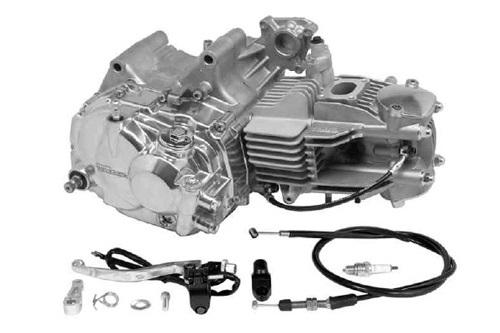 SP武川 タケガワ 01-00-7740 エンジンコンプリートキット スーパーヘッド4+R 178cc 5速クロスミッション カムシャフト25/30D ワイヤー式クラッチカバー KSR110