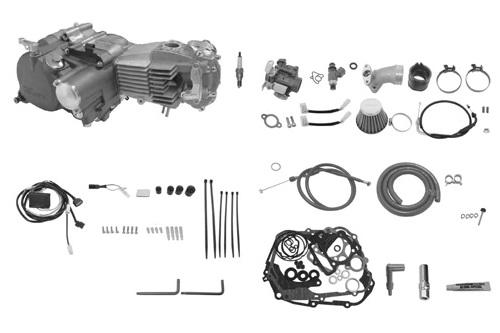 SP武川 タケガワ 01-00-9235 エンジンコンプリートキット スーパーヘッド4V+R プライマリーキックスターター スーパーツーリング5速 カムシャフト20/25D スリッパー式 モンキーFI