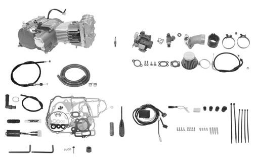 SP武川 タケガワ 01-00-9361 エンジンコンプリートキット DOHC4V 2SMP 124cc プライマリーキックスターター スーパーツーリングTAF5速 カムシャフト25/30D スペシャルクラッチ湿式 モンキーFI