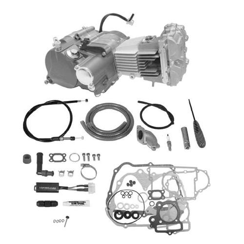 SP武川 タケガワ 01-00-9363 エンジンコンプリートキット DOHC4V 2SMP-124 プライマリーキックスターター スーパーツーリング5速 カムシャフト25/30D スリッパー モンキー/ゴリラ