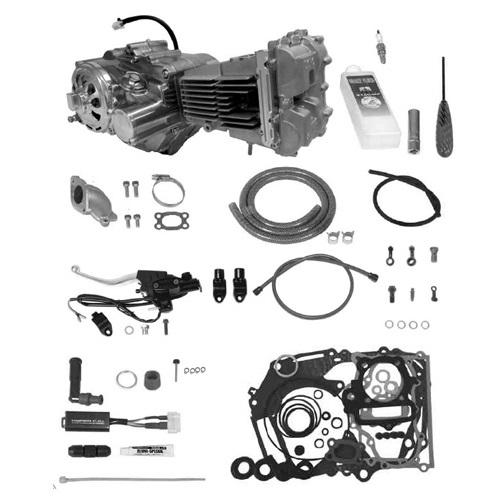 SP武川 タケガワ 01-00-9365 エンジンコンプリートキット DOHC4V 2SM 138cc セカンダリーキックスターター スーパーストリート5速 カムシャフト25/30D 乾式油圧クラッチ モンキー/ゴリラ