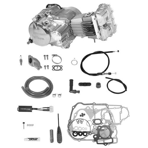 SP武川 タケガワ 01-00-9371 エンジンコンプリートキット DOHC4V 2SMS 124cc セカンダリーキックスターター スーパーツーリングTAF5速 カムシャフト25/30D スペシャルクラッチ5ディスク WET/スリッパー モンキー/ゴリラ