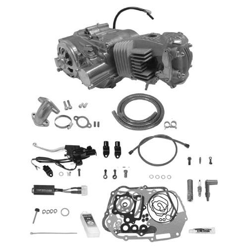 SP武川 タケガワ 01-00-9657 エンジンコンプリートキット スーパーヘッド4V+R 4SM-123 セカンダリーキックスターター スーパーストリート5速 カムシャフト20/25D 乾式油圧スリッパークラッチ モンキー/ゴリラ