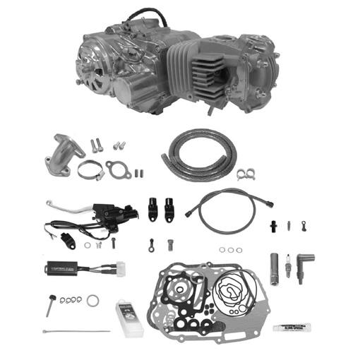 SP武川 タケガワ 01-00-9661 エンジンコンプリートキット スーパーヘッド4V+R 4SM-123 セカンダリーキックスターター スーパーツーリング5速 カムシャフト20/25D DRY油圧 モンキー/ゴリラ