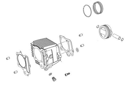 SP武川 タケガワ 01-04-0135 シリンダーキット 138cc スカットシリンダー 武川製スーパーヘッド+Rシリンダーヘッド専用 モンキー/ゴリラ