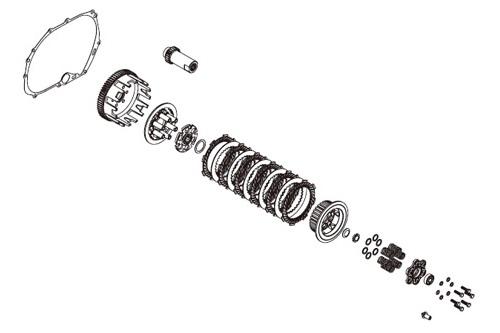 SP武川 タケガワ 02-01-0171 スペシャルクラッチインナーキット スリッパー/ワイヤー式 Z125PRO/KSR110/KLX110/KLX110L