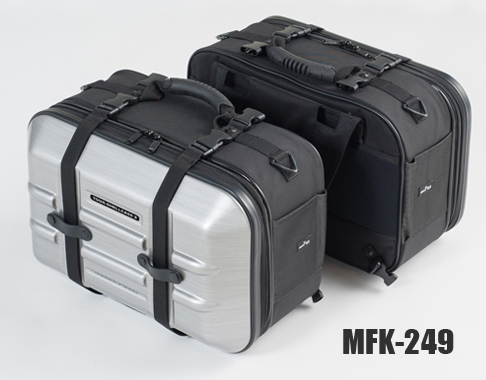 mfk-249 ヘアラインシルバー サイドバッグ ツアーシェルケース2 MFK-249 タナックス タナックス TANAX