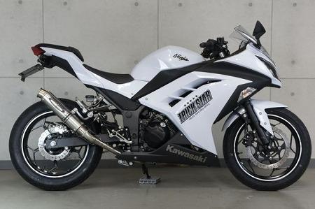 トリックスター レーシングスリップオンマフラー ショットガン チタンGP-LOOK Ninja250 Ninja300 ニンジャ250 ニンジャ300 RSS-015D-STEGP マフラー