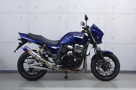 トリックスター レーシングスリップオンマフラー 焼チタン ステンレスパイプ 新色 ZRX1200DAEG 正規逆輸入品 マフラー TSR-003D-SO-S0YT