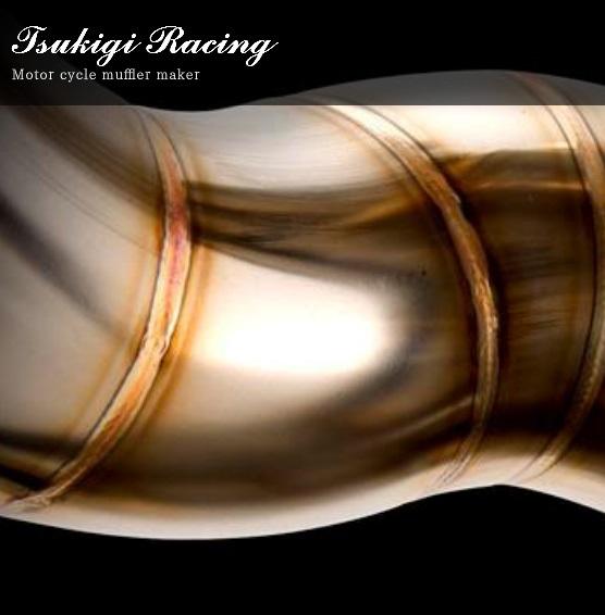 月木レーシング ツキギレーシング 665-0115 TRエキゾーストシステム アルミサイレンサー フルエキゾーストマフラー アップタイプ 100×500mm GPZ900R マフラー