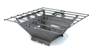 バーゴ VARGO T-433 ファイヤーボックスグリル チタン アウトドア ストーブ バーナー コンロ 調理用品