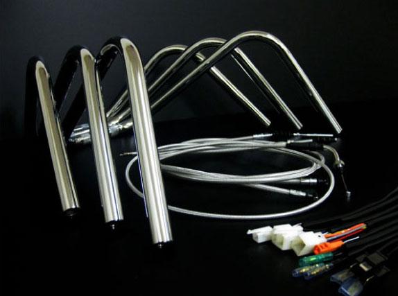 APE エイプ アップハンドル セット ミニしぼりアップハン メッシュ 08- FI車 バーテックス APE エイプ アップハンドル