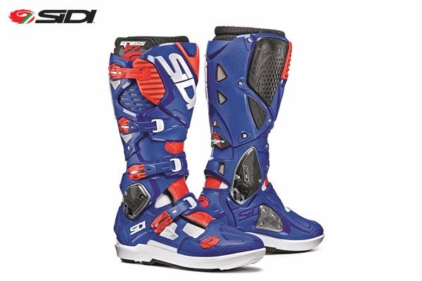 SIDI シディー CROSSFIRE3 SRS 交換式SRSソールモデル ブーツ ホワイト/ブルー/フローレッド 11/46サイズ 28.0cm-28.5cm WESTWOOD ウエストウッド