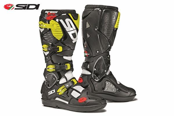 SIDI シディー CROSSFIRE3 SRS 交換式SRSソールモデル ブーツ ホワイト/ブラック/フローイエロー 9.5/44サイズ 27.0cm-27.5cm WESTWOOD ウエストウッド