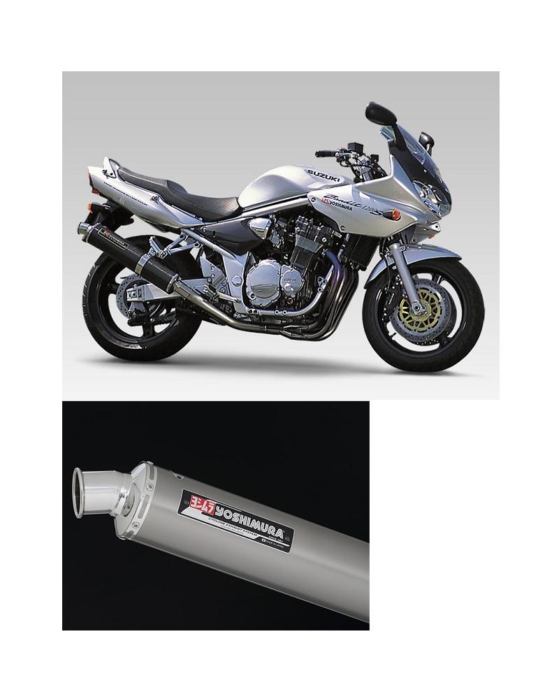 ヨシムラ 110-112-8281 機械曲チタンサイクロン マフラー TT チタンカバー バンディット1200
