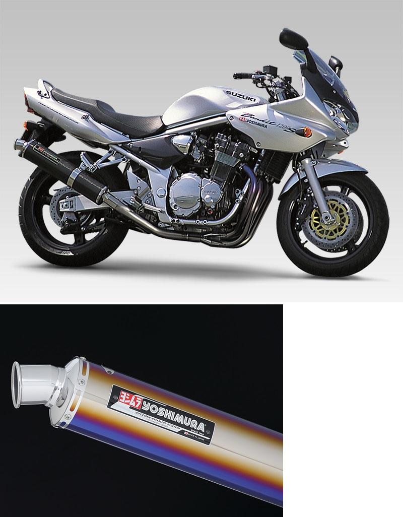 ヨシムラ 110-112F8281B 機械曲チタンサイクロン マフラー TTB/FIRE SPEC チタンブルーカバー バンディット1200