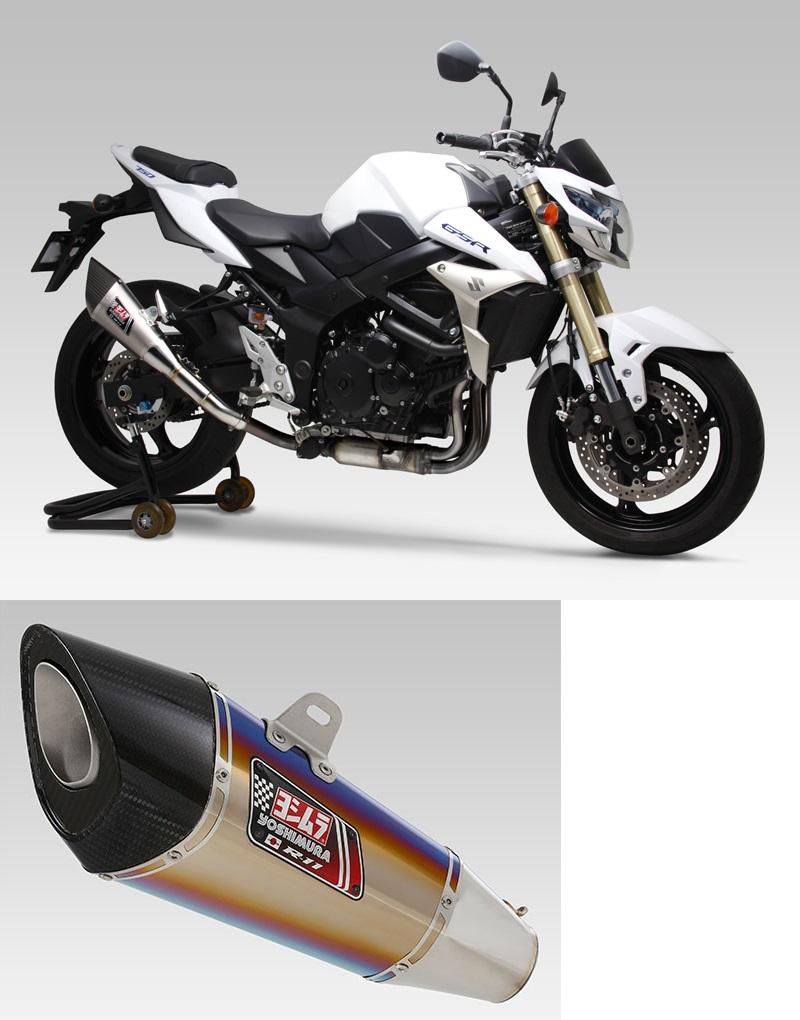 ヨシムラ 110-158-5E80B スリップオン R-11 サイクロン 1エンド EXPORT SPEC マフラー STB チタンブルーカバー GSR750