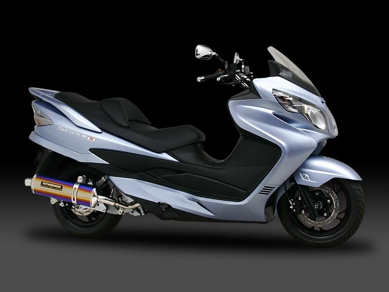 ヨシムラ 110-165-5G22 OVALサイクロン マフラー SM メタルマジックカバー SKYWAVE250 スカイウェイブ250