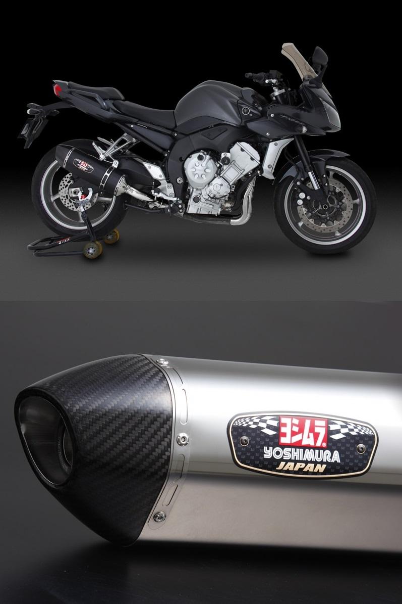 ヨシムラ110-384-5W50スリップオンR-77JサイクロンEXPORTSPECマフラーSSCステンレスカバー/カーボンエンドタイプFZ1/FZ1FAZERFZ1フェザー