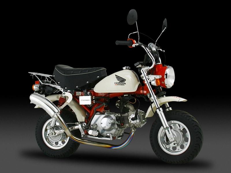 ヨシムラ 110-401-8800 サイクロン タイプ3 手曲チタン マフラー T アルミニウムカバー モンキー