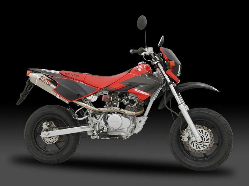 ヨシムラ 110-409F8C80B TRI-CONE チタンサイクロン R-SPEC マフラー TTB/FIRE SPEC チタンブルーカバー XR50モタード/XR100モタード