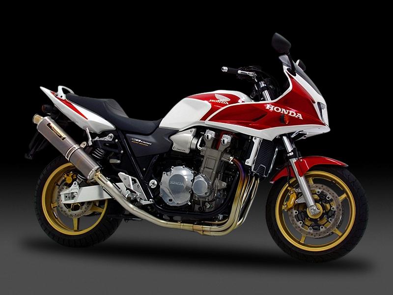 ヨシムラ 110-418F8250 機械曲チタンサイクロン マフラー TS/FIRE SPEC ステンレスカバー CB1300SB/CB1300SF