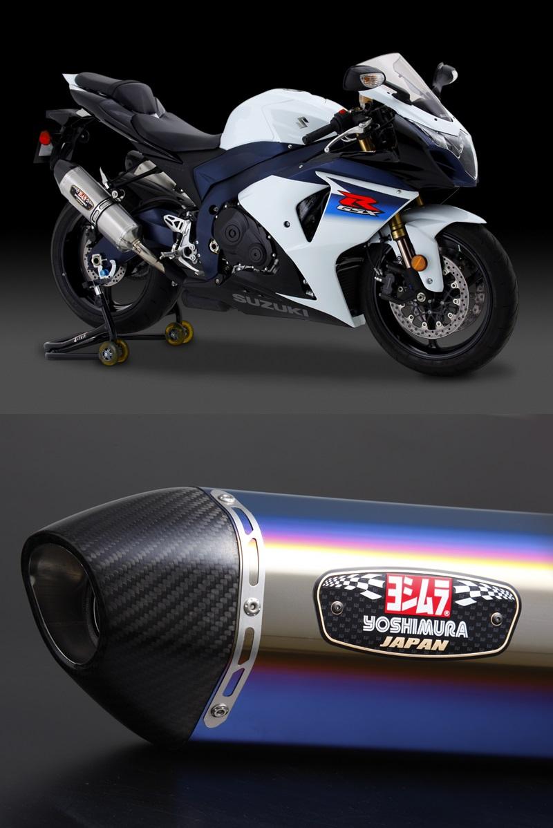 ヨシムラ 110-518-5W80B スリップオン R-77J サイクロン 2本出し EXPORT SPEC マフラー STBC チタンブルーカバー/カーボンエンドタイプ GSX-R1000