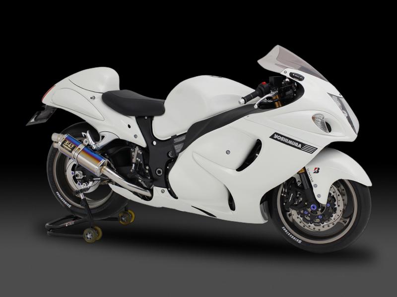 ヨシムラ 150-509-5H20 レーシングスリップオン TRI-OVAL サイクロン 2エンド マフラー SM メタルマジックカバー GSX1300R隼