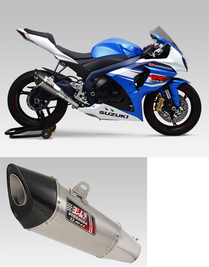 ヨシムラ 150-519-5F80 R-11 レーシングサイクロン 1エンド ステンレスエキパイ マフラー ST チタンカバー GSX-R1000