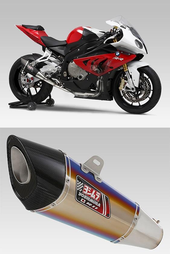 ヨシムラ 150-635-5F80B R-11 レーシングサイクロン 1エンド NEO HYBRID フルエキゾースト マフラー ST チタンブルーカバー S1000RR