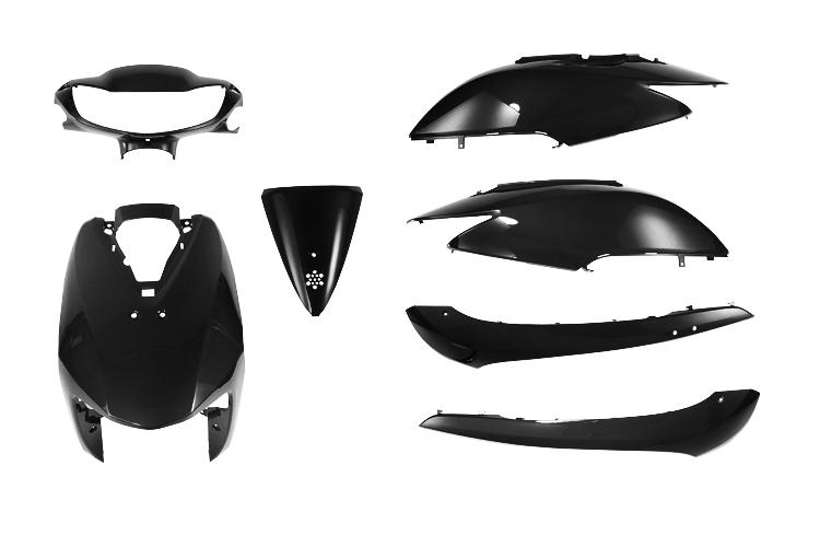 ホンダ ディオ AF62/AF68 外装カウルセット 7点 黒 高品質  台湾製  ブラック  DIO  Dio  dio  塗装済  外装セット  バイクパーツセンター
