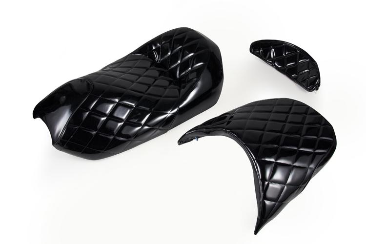 ヤマハ マジェスティ250/C  SG03J  エナメルシートAssy 黒 ブラック  ベース付シート  本体  外装  補修  バイクパーツセンター