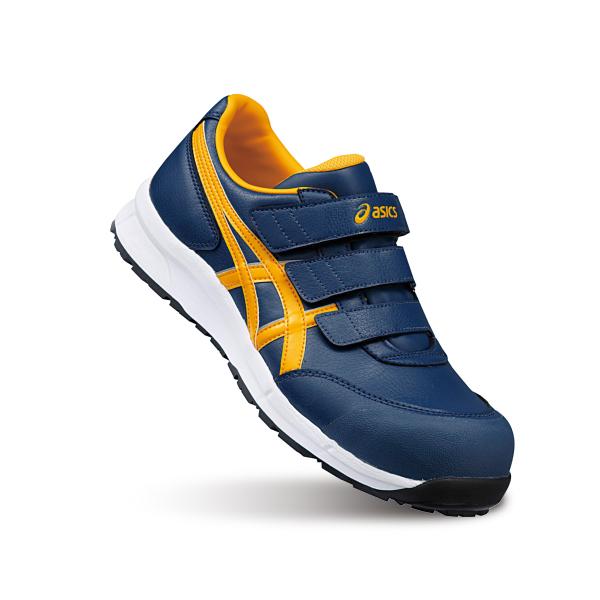 アシックス asics ウィンジョブ CP301 26.5cm インシグニアブルー×ゴールドフュージョン マジック止め  安全靴  スニーカー  作業靴  JSAA規格  明日楽非対応:パーツセンター店