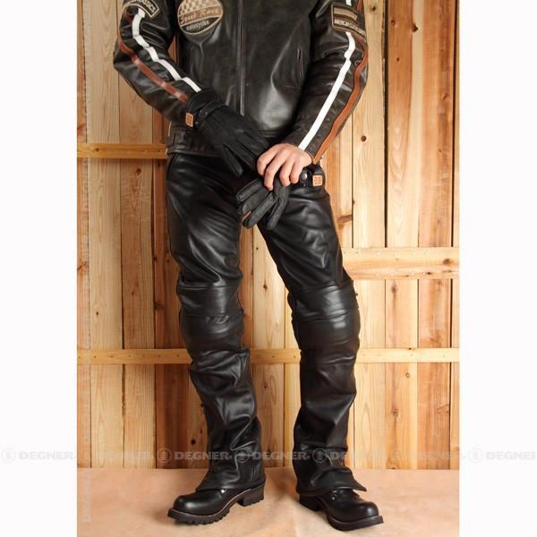デグナー DP-15 ライディングパンツ Mサイズ メンズ 本革 牛革 ブラック プロテクター 3シーズン対応 レザーパンツ【DEGNER】【バイクウェア】バイクパーツセンター