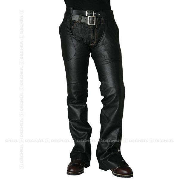 デグナー CH-4A レザーチャップス BK Lサイズ 本革 牛革 ブラック 3シーズン対応 ソフトレザーパンツ【DEGNER】【バイクウェア】バイクパーツセンター