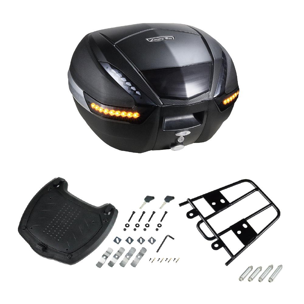 リアボックス 38L リフレクタ- LEDウインカ- スモーク リアキャリアセット PCX用 バイク  大容量  通勤  通学  トップケース  ツーリングバッグ