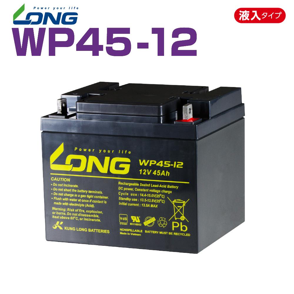 WP45-12  12V45Ah UPS・防災・防犯・シニアカー・セニアカー・システム等多目的バッテリー LONGバッテリー バイクパーツセンター
