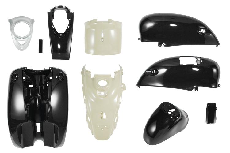 ヤマハ ビーノ 5AU 外装カウルセット 10点 黒 高品質台湾製  ブラック  塗装済  外装セット  バイクパーツセンター