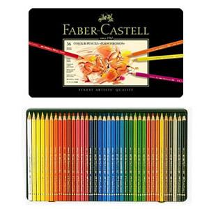 【送料無料】『ファーバーカステル ポリクロモス色鉛筆セット 36色缶入 9213』~スケッチ・アート・描画などに~【FABER-CASTELL】【色えんぴつ/文房具】