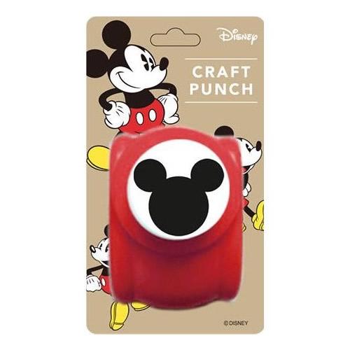 クラフトパンチは紙専用。シンプルなミッキースリーサークルのシルエットです 。 『ディズニー パンチ ミッキーM』<クラフトパンチ>【Disney ミッキー 文房具 型抜き デコレーション アルバム作り】