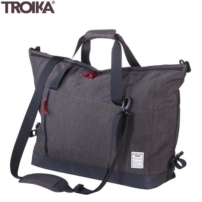 【送料無料】『ドイツ トロイカ ビジネスウィークエンダー グレイ BBG53-GY』【TROIKA ビジネスバッグ トラベルバッグ トートバッグ ボストンバッグ バッグ 旅行】