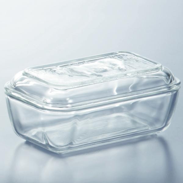 全面強化ガラスでてきています リュミナルク バターケース 牛レリーフ バター ガラス 贈物 容器 大規模セール おしゃれキッチン小物 ケース バター入れ