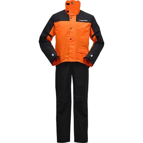 雨や風を入りにくくし 汗による衣服内の余分な湿気を外へ放出 ワイズギア 売れ筋ランキング オレンジ 品質保証 サイバーテックスIIダブルガードレインスーツ YAR19