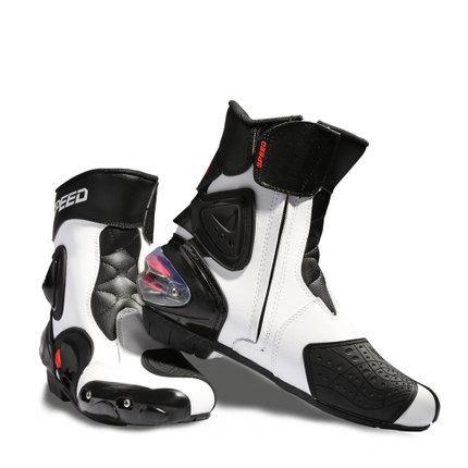 新商品 大特価にてご提供 レーシングブーツ ライディングブーツ バイクブーツ 蔵 バイクシューズ バイク用ブーツ バイク靴 プロテクトスポーツブーツ 送料無料 レーシングシューズ メンズオートバイ靴 ブランド激安セール会場 バイク用靴 ショートブーツ ホワイト ライディングシューズ