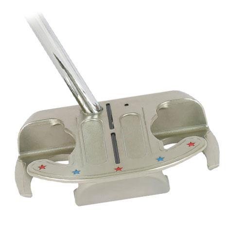 ゴルフパター/TOPSPIN MALLET3左利き用/曲面パター(ジェームズ・ミラーのTOPSPINパター)Curved FACE,トップスピン TOPSPIN Putter ゴルフクラブ/直進性,方向性,距離感が完璧です。